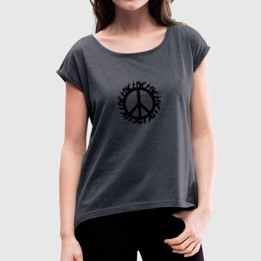 Peace - Women's T-shirt with rolled up sleeves