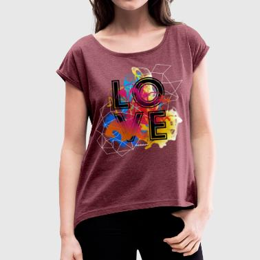Love Flow - The Colored Shirts Edition - Frauen T-Shirt mit gerollten Ärmeln
