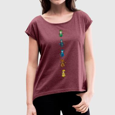 Gooder Chakras- The Keeper of Orbis - Women's T-Shirt with rolled up sleeves