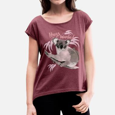 Animal Planet hugs wanted - Women's T-Shirt with rolled up sleeves