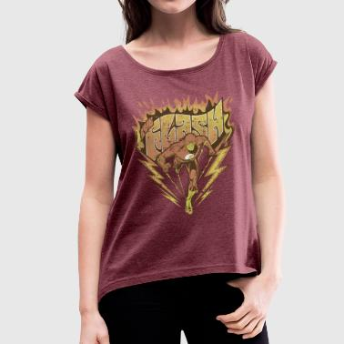 DC Comics Originals The Flash Look Usé - T-shirt à manches retroussées Femme
