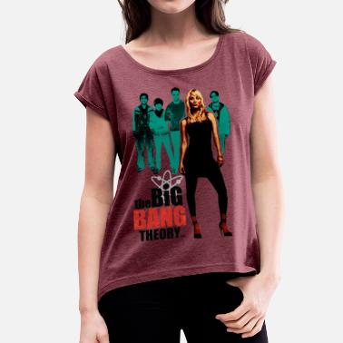 Officialbrands Dam T-shirt Big Bang Theory Penny - T-shirt med upprullade ärmar dam