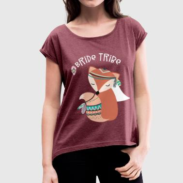 Bride Tribe Team Bride Hen Night - Women's T-shirt with rolled up sleeves