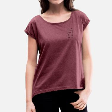 Yummy Bear (mini) - Women's T-Shirt with rolled up sleeves