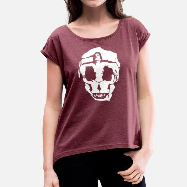 Shape Skull shaped out of body - Skull in shape - Women's T-Shirt with rolled up sleeves