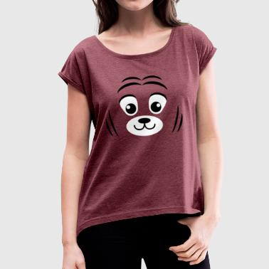 Tiger cub (Cubs) - Women's T-Shirt with rolled up sleeves