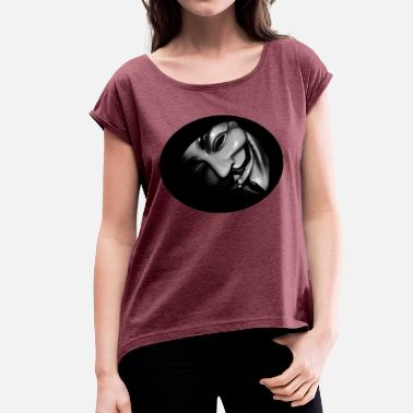 Anonym Anonymous - Women's T-Shirt with rolled up sleeves