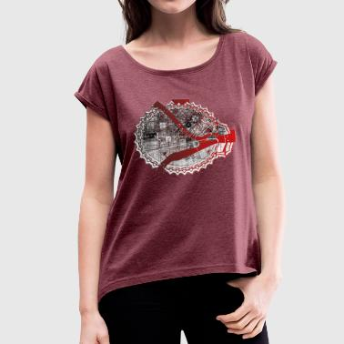 St Petersburg St-Petersburg Blond - Women's T-Shirt with rolled up sleeves