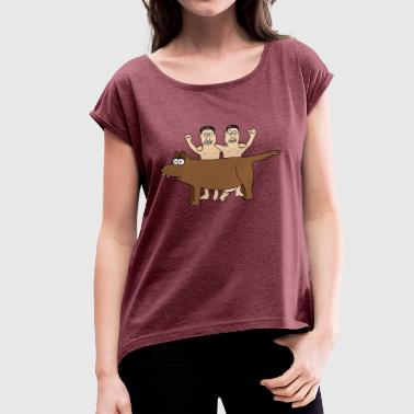 Romulus Remus Romulus & Remus Twins Wolf Rome Brothers Italy - Women's T-Shirt with rolled up sleeves