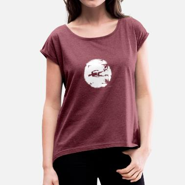 Art Hole Into the hole - Women's T-Shirt with rolled up sleeves