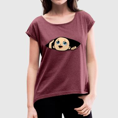 Baby hatches - Women's T-Shirt with rolled up sleeves