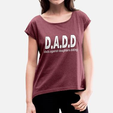 D&d d a d d s white - Women's T-Shirt with rolled up sleeves