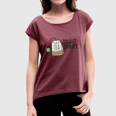 Tee-shirt - Women's T-Shirt with rolled up sleeves