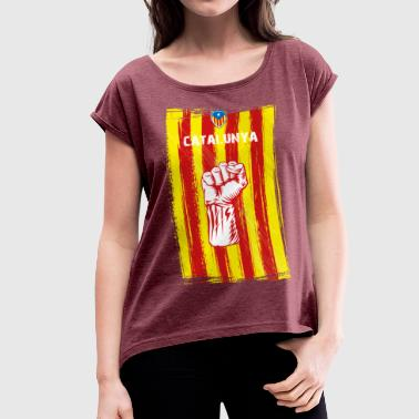 Catalan Independence catalunya - Women's T-Shirt with rolled up sleeves