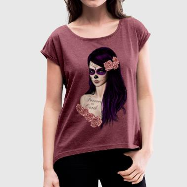 La Catrina dia dos muerto - Women's T-Shirt with rolled up sleeves