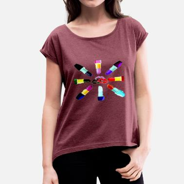Makeup makeup - Women's T-Shirt with rolled up sleeves