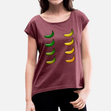 Mature Bananas maturity - Women's T-Shirt with rolled up sleeves