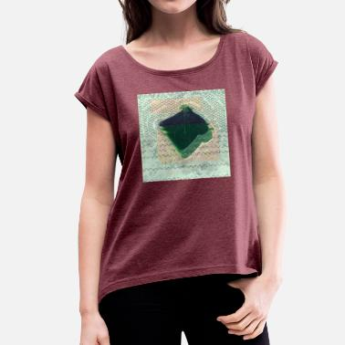 Bread Box bread glitch - Women's T-Shirt with rolled up sleeves