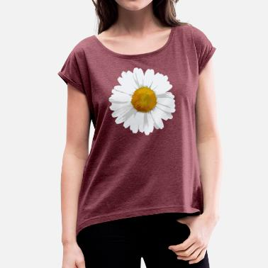 Fresh Products Daisy - Women's T-Shirt with rolled up sleeves