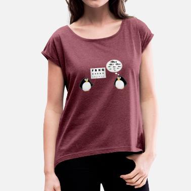 Opticien test Seh - Ophtalmologue - T-shirt à manches retroussées Femme 494e8b5d191e