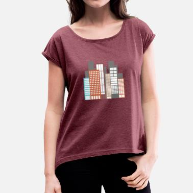 Build building - Women's T-Shirt with rolled up sleeves