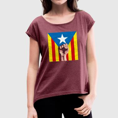 Catalunya - Women's T-Shirt with rolled up sleeves