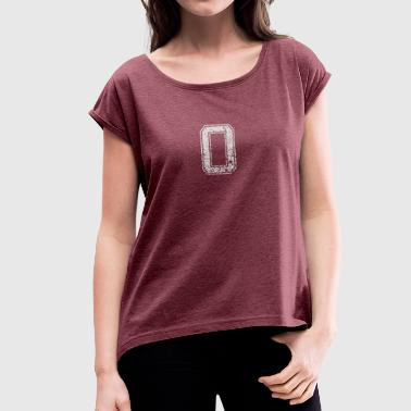 Number 0 number zero gift - Women's T-Shirt with rolled up sleeves