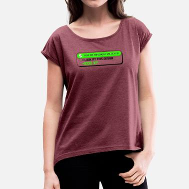 Funny Video Funny Video Gamer T-Shirt - Women's T-Shirt with rolled up sleeves