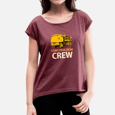 Road Safety construction worker - Women's T-Shirt with rolled up sleeves