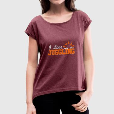 Juggle - Women's T-Shirt with rolled up sleeves