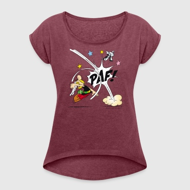 Asterix & Obelix Asterix fist Mug - Women's T-Shirt with rolled up sleeves
