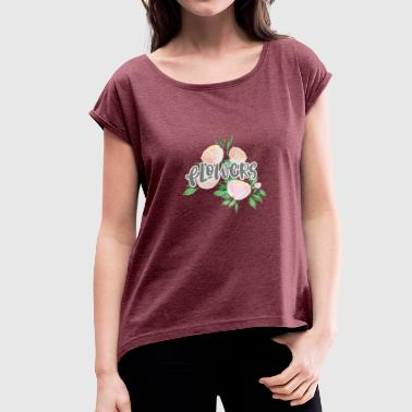 Summer Colours colourful flowers - Women's T-Shirt with rolled up sleeves