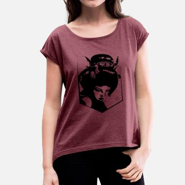 Geisha Geisha - Women's T-Shirt with rolled up sleeves