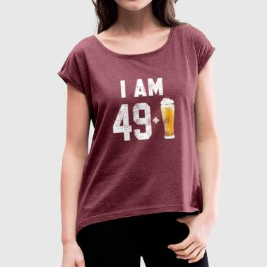49th Birthday 49th birthday - Women's T-Shirt with rolled up sleeves
