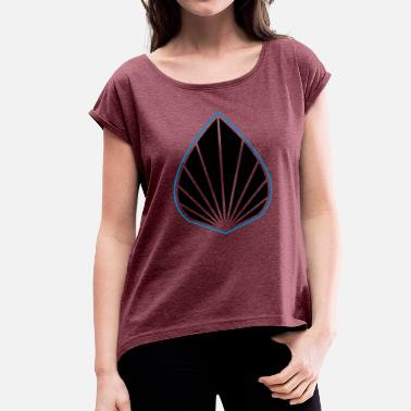 Augmented Augmented Logo Blue - Women's T-Shirt with rolled up sleeves
