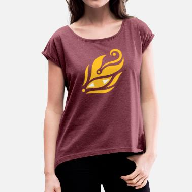 Meditation-Eye 10 - Women's T-Shirt with rolled up sleeves