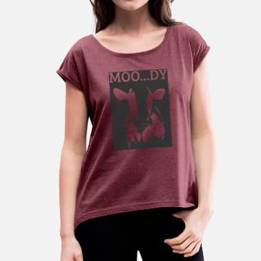 Cows Moo Cow / Farm: Moo ... Dy - Women's T-Shirt with rolled up sleeves