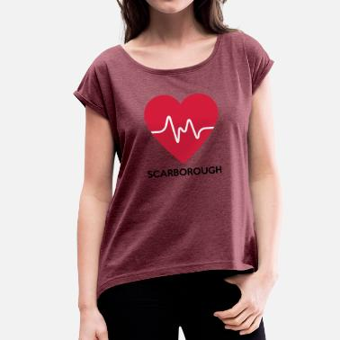 Scarborough heart Scarborough - Women's T-Shirt with rolled up sleeves