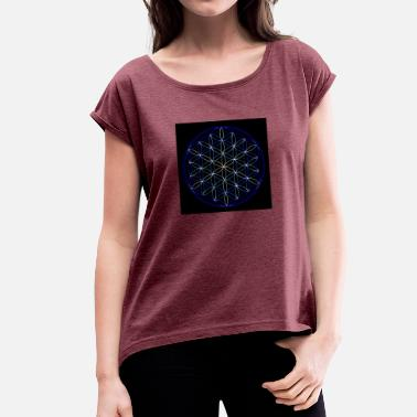 Life Flower Flower of Life - Women's T-Shirt with rolled up sleeves