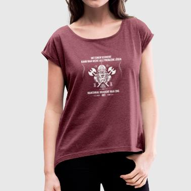 Viking ax - Women's T-Shirt with rolled up sleeves