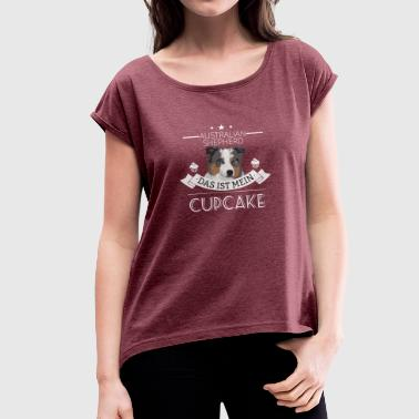 AUSSIE Cupcake - Women's T-Shirt with rolled up sleeves
