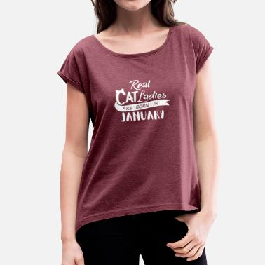 Lady December December Birthday - Women's T-Shirt with rolled up sleeves