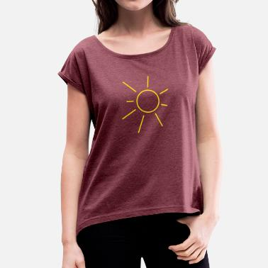 Sun Sun - Women's T-Shirt with rolled up sleeves