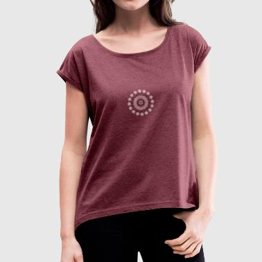 Circle Vector circle - Women's T-Shirt with rolled up sleeves