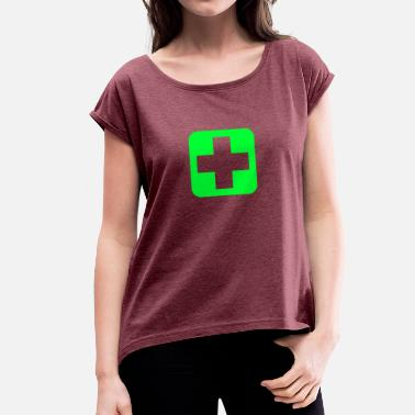 Sanitary SANITARY on tour - Women's T-Shirt with rolled up sleeves