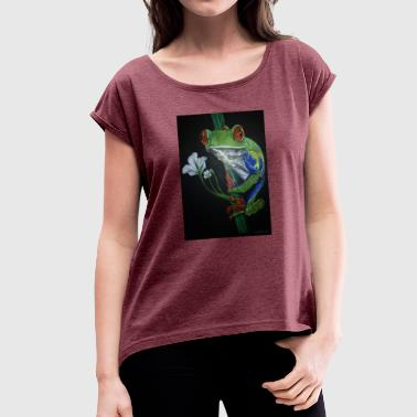 frog frog - Women's T-Shirt with rolled up sleeves