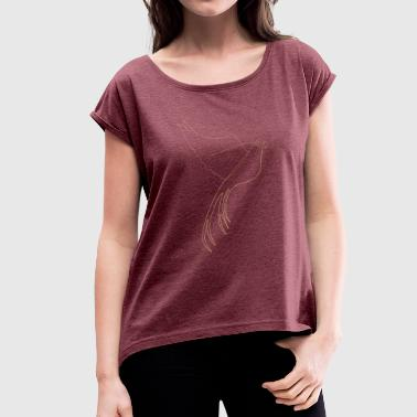 bird of paradise - Women's T-Shirt with rolled up sleeves