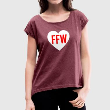 Voluntary Voluntary fire department love - Women's T-Shirt with rolled up sleeves