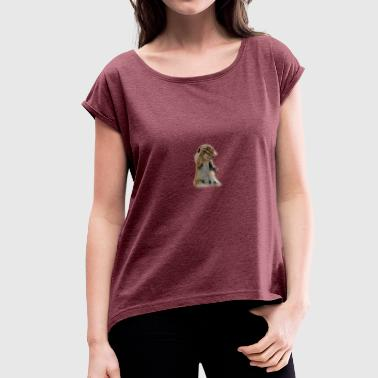 Croissants croissant - Women's T-Shirt with rolled up sleeves