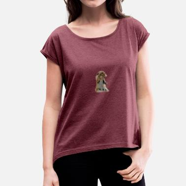 Croissant croissant - Women's T-Shirt with rolled up sleeves